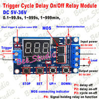 DC 5V 12V 24V LED Display Cycle Timer Delay Switch Turn Off/On Time Relay Module