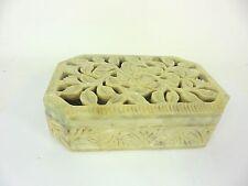 Soapstone Hinged Trinket or Jewelry Box Jennifer Farrell Collection