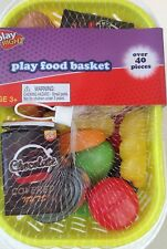 Play Food & Shopping Basket 40 Piece Pretend Play Food New Yellow