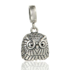Cute Owl Charm - Sterling Silver Pendant - Birthday Gift - Charms for Bracelet