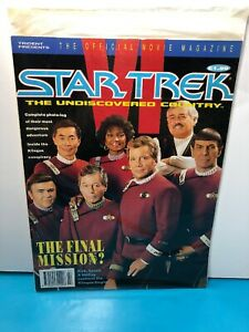 Star Trek VI: The Undiscovered Country Official Movie Magazine / Pin-ups SHATNER