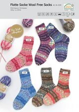 Wollpaket Sockenwolle *Rellana Flotte Socke Wool Free, 6x100g, je 1 Farbe im Set