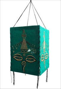 Buddha Eye Hanging Handmade Decorative Lamp Shade, Wisdom Eye with Stupa