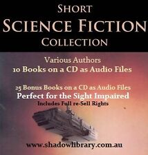 CD - Science Fiction Short Stories - Sight Impaired, Blind  - 35 Audio Books