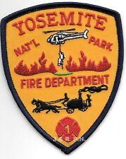 "Wildland - Yosemite N.P.  Station - 1, CA  (3.25"" x 4"" size) fire patch"