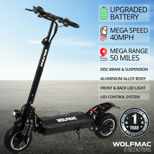 WOLFMAC™ H10 Electric Off Road E-Scooter, MEGA 40mph, MEGA 50m Range, 2600w!