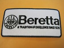 BERETTA FIREARMS VEST PATCH 2 X 4 INCH SEW ON GUN PATCH 100% EMBROIDERY LOOK!!!!