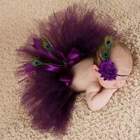 Newborn Toddler Baby Girls Headband+Tutu Skirt Dress Photo Props Costume Outfits