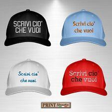 Cappello cappellini PERSONALIZZATO RICAMATO scuola gite ristorante stampa lavoro