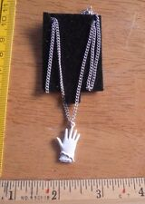 Michel Jackson white glove 1984 VINTAGE necklace on card