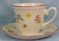 Fleurette Cup & Saucer Johnson Brothers Flowers Clover Fruit Stoneware