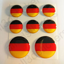 Adesivo Germania Resinato 3D Adesivi Bandiera Germania Resinati TONDO Resine