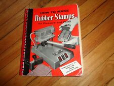 How to Make Rubber Stamps for Pleasure and Profit Vintage Book
