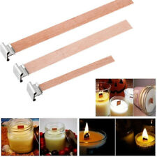 Candlestick Sustainer Tabs Wax Candle Core Square Stand Alloy Wooden Wick