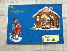 COLLECTABLE VINTAGE POSTCARD BUON NATALE ITALY NATIVITY (872)