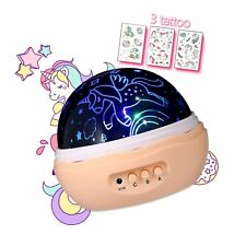 MINGKIDS NEWEST Night light Girls,Unicorn Projector for Girls,4 LED Bulbs 8 M...