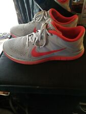 new styles f1428 002e6 Nike Free 4.0 V4 642197-060 gray red Men Size 9.5