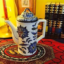 "STUNNING RARE ROYAL SEALY ""BLUE CATHAY"" COFFEE/TEA POT JAPAN MARKED"