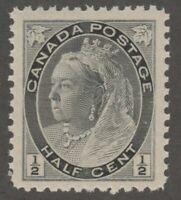Canada 1/2c Numeral issue Queen Victoria Scott #74 VF MNH