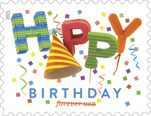 #5635 2021 Happy Birthday  - MNH (New Rate Increase Aug 29) (Ships after Sept 9)