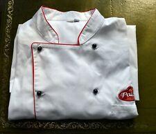 jacket PALLAS FOODS size XXL chef catering kitchen cooking white long sleeve