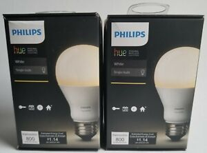 Lot Of 2 - Philips Hue White A19 Single LED Smart Bulbs - NEW AND SEALED