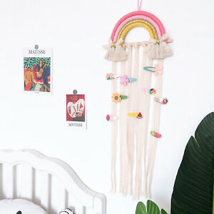 Hair Bow Holder Organizer Headband Hair Clip Storage Wall Hanging Bedroom Decor
