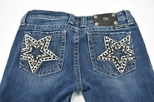 Miss Me Navy Blue Jeans, Embellished Star, Rhinestone, Size 29 Women's