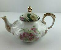 Antique Vtg Limoges Gold Floral Teapot Porcelain Rare Perfect A71