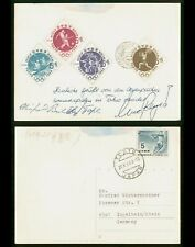 Mayfairstamps Japan 1964 Olympics Stamps Combo To Germany Postcard wwp637