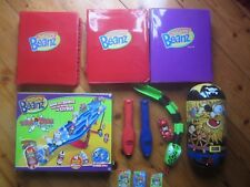 Ultra-Rare, Rare, Common Mighty Beanz - Total 123 with tracks (4) & cases (3)
