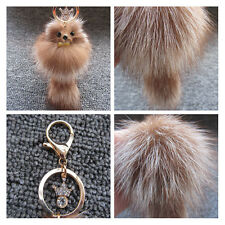 New Key Chain Plush Faux Fox Fur Pendant Keychain Cellphone Car Handbag Pendant