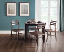 Monterey Dining Set With 4 Chairs in Dark Walnut Finish by Julian Bowen