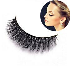 100% Real Mink Hair Natural Handmade Thick Cross Lashes False Eyelashes Beauty