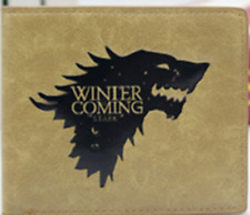 Game of Thrones wallet khaki Cosplay Card Wallet button Leather pu short Purse