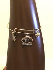 NFL Silver Dallas Cowboys Bangle Bracelet