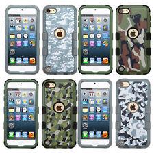iPod Touch 5th 6th Gen IMPACT TUFF HYBRID Skin Case Cover Camo + Screen Guard