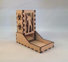 Zombie Dice Tower Clear Acrylic Window Laser Cut MDF v1