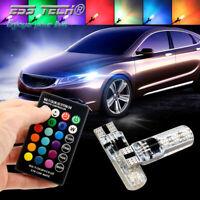 Kit T10 W5W 194 lumières LED auto ampoules RGB 12V 2W lampes Canbus sans erreur
