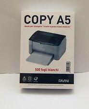 FAVINI RISMA  A5 500 FOGLI BIANCHI 80g X RICETTE E PRESCRIZIONI MEDICHE