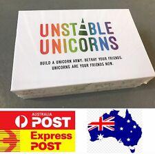 Amazing Board Game: Unstable Unicorns, Age 14+, Melbourne Stock, Fast Post