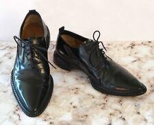 COSTUME NATIONAL Men's Pointy Toe Polished Black Leather Oxfords US 9.5