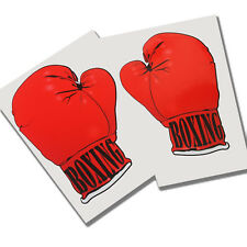 Guantes de Boxeo Etiquetas Engomadas Gráficos X2