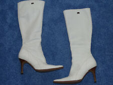 Buffalo Damen Stiefel High Heel weiß SELTEN -Rarität Gr. 38