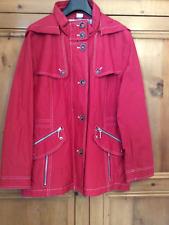 Designer Witt @ Kaleidoscope Plus Size 22 Petite Red JACKET Hood Pockets £110