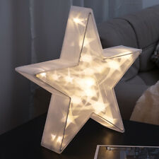 Adornos transparentes de estrella para árbol de Navidad