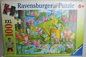 RAVENSBURGER PUZZLE FAIRY PLAYLAND 100 XXL PIECES 106028 2011 GERMANY COMPLETE