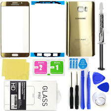 for Samsung Galaxy Note 5 OEM Gold Front Screen Glass Back Replacement Glass Kit