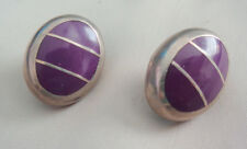 In Sterling Artisan Td 88 Mexican Sugalite Purple Stone Post Earrings