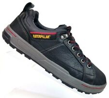 Caterpillar CAT Black Leather Work Safety Low Top Shoe Men's US 8M EU 41
